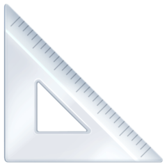 Triangular Ruler facebook emoji