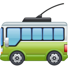 Trolleybus facebook emoji