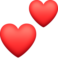 Two Hearts facebook emoji