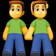 Two Men Holding Hands facebook emoji