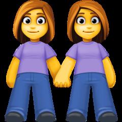 Two Women Holding Hands facebook emoji