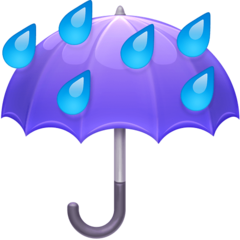 Umbrella With Rain Drops facebook emoji