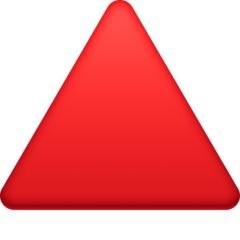 Up-pointing Red Triangle facebook emoji