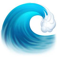 Water Wave facebook emoji