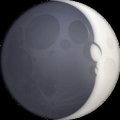 Waxing Crescent Moon Symbol facebook emoji