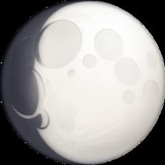 Waxing Gibbous Moon Symbol facebook emoji