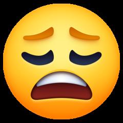 Weary Face facebook emoji