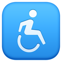 Wheelchair Symbol facebook emoji