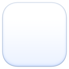 White Large Square facebook emoji