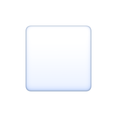 White Medium Small Square facebook emoji