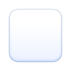 White Medium Square facebook emoji