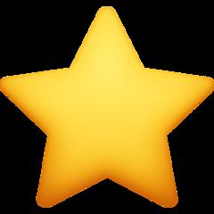 White Medium Star facebook emoji
