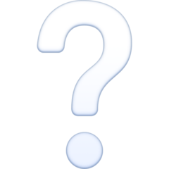 White Question Mark Ornament facebook emoji