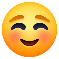 White Smiling Face facebook emoji