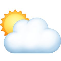 White Sun Behind Cloud facebook emoji