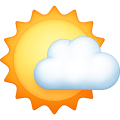 White Sun With Small Cloud facebook emoji
