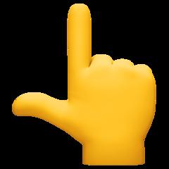 White Up Pointing Backhand Index facebook emoji