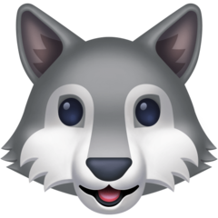 Wolf Face facebook emoji
