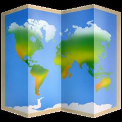 World Map facebook emoji