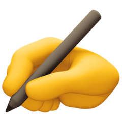 Writing Hand facebook emoji