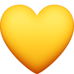 Yellow Heart facebook emoji