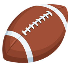 American Football facebook messenger emoji