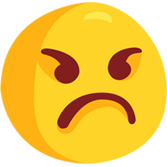Angry Face facebook messenger emoji