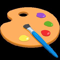 Artist Palette facebook messenger emoji