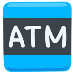 Automated Teller Machine facebook messenger emoji