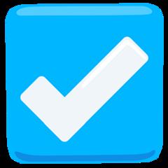 Ballot Box With Check facebook messenger emoji