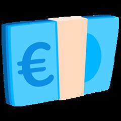 Banknote With Euro Sign facebook messenger emoji
