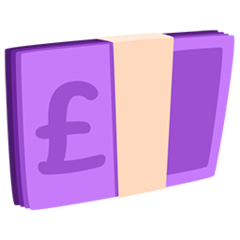 Banknote With Pound Sign facebook messenger emoji