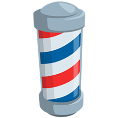 Barber Pole facebook messenger emoji