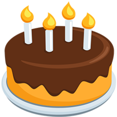 Birthday Cake facebook messenger emoji