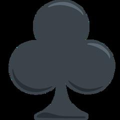 Black Club Suit facebook messenger emoji