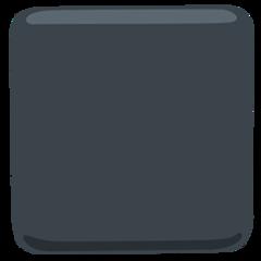 Black Large Square facebook messenger emoji