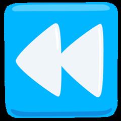 Black Left-pointing Double Triangle facebook messenger emoji