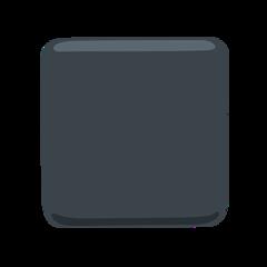 Black Medium Square facebook messenger emoji
