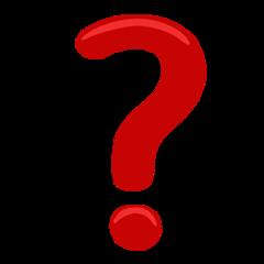Black Question Mark Ornament facebook messenger emoji