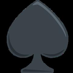 Black Spade Suit facebook messenger emoji