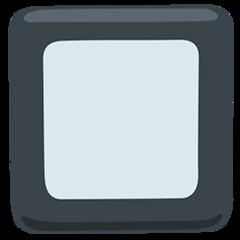 Black Square Button facebook messenger emoji