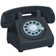 Black Telephone facebook messenger emoji