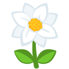 Blossom facebook messenger emoji