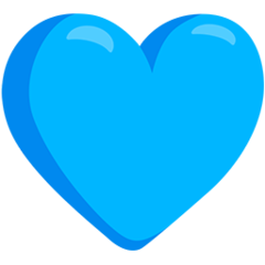 Blue Heart facebook messenger emoji