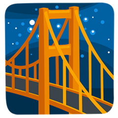 Bridge At Night facebook messenger emoji