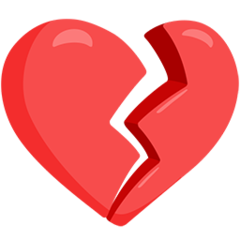 Broken Heart facebook messenger emoji