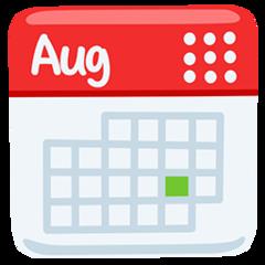 Calendar facebook messenger emoji