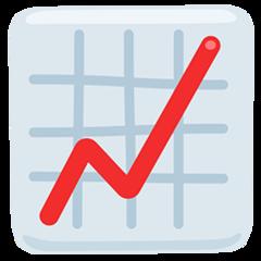 Chart With Upwards Trend facebook messenger emoji