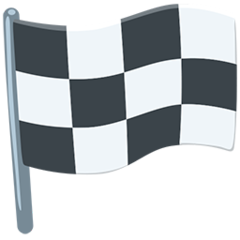 Chequered Flag facebook messenger emoji