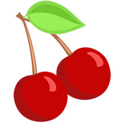 Cherries facebook messenger emoji
